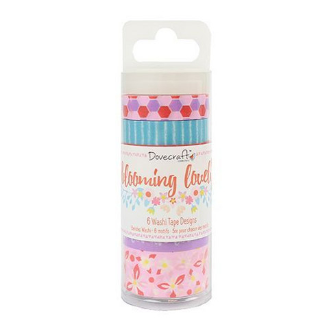 Dovecraft Washi Tapes: Blooming Lovely -washituubi
