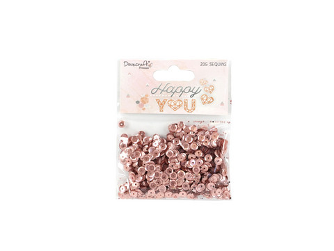 Dovecraft Happy You:  Rosegold Sequins