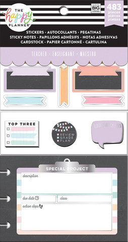 MAMBI The Happy Planner Multi Accessory Pack : Teacher - Chalkboard