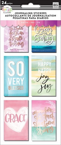 MAMBI The Happy Planner Journaling (flip) Stickers - Faith