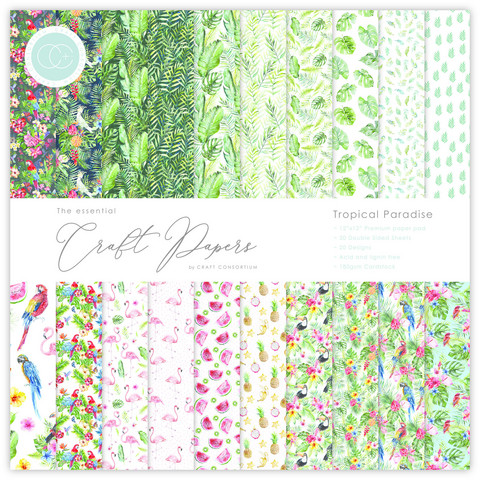 CC Essential Craft Papers 12 x 12 :  Tropical Paradise