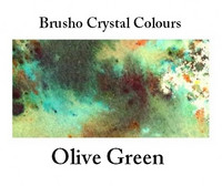 Brusho Crystal Colors -  Olive Green 15g