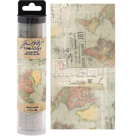 Tim Holtz Collage Paper : Travel
