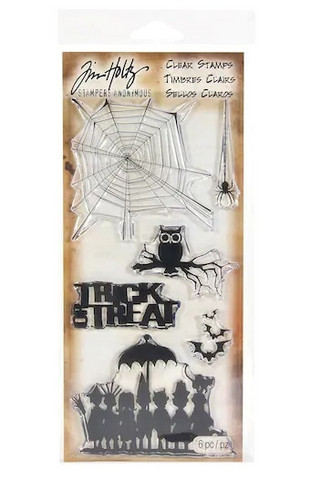 Tim Holtz Clear Stamps: Halloween Cutouts - leimasinsetti