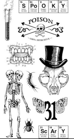 Halloween Clear stamps: Mad Scientist  - leimasinsetti