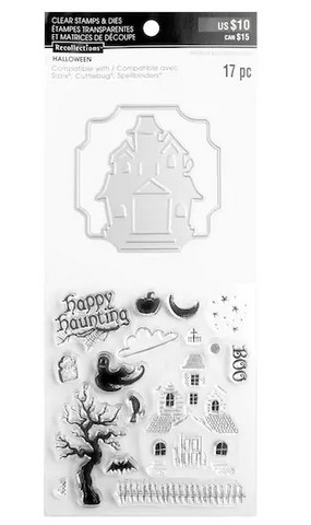 Halloween stamps & dies: Haunted House  -setti
