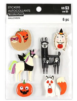Halloween 3D Stickers: Animal Costumes