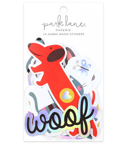 Park Lane Paperie Jumbo Washi Stickers: Pets