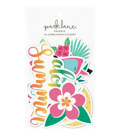 Park Lane Paperie Jumbo Washi Stickers: Tropical