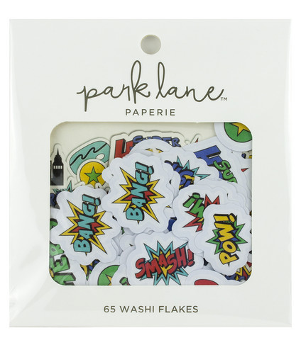 Park Lane Paperie Washi Flakes Stickers: Super Hero