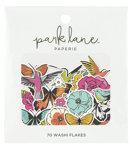 Park Lane Paperie Washi Flakes Stickers: Butterflies & Flowers