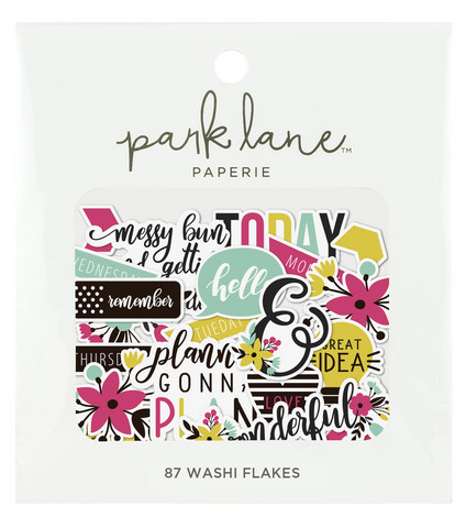 Park Lane Paperie Washi Flakes Stickers: Planner