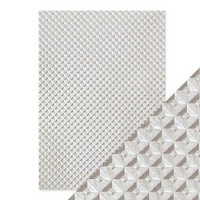 Tonic Studios Embossed Papers A4: Silver Chequer- pakkaus