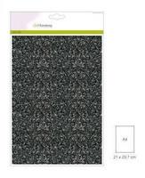 Glitter Paper A4: Black- glitterpaperipakkaus