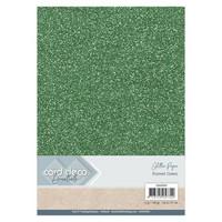 Card Deco Essentials Glitter Paper A4: Forrest Green - glitterkartonkipakkaus