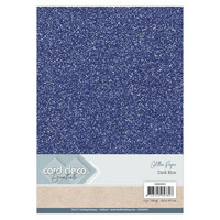 Card Deco Essentials Glitter Paper A4: Dark Blue - glitterkartonkipakkaus
