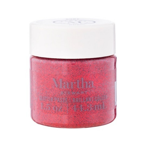 Martha Stewart Glitter Paste 44 ml :  Ruby