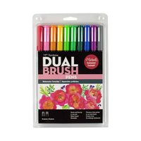 Tombow Dual Brush Pens: Watercolor Favorites- tussipakkaus