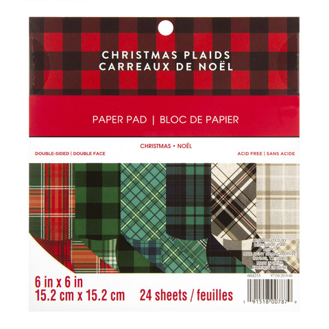 Recollections: Christmas Plaids  6x6 - paperikokoelma