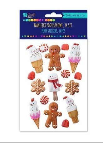 Puffy Stickers: Gingerbreads - tarrapakkaus