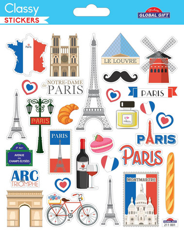 Classy Stickers: Travel Paris  -tarra-arkki