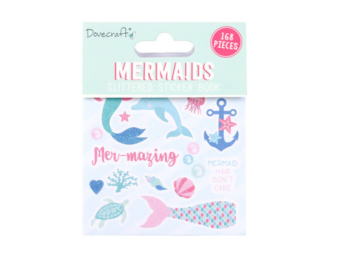 Glittered Sticker Book:  Mermaids  -tarrakirja