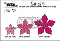 Crealies Set of 3 Dies: Poinsettia