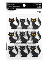 Recollections Halloween Glitter Stickers: Cats