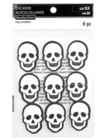 Recollections Halloween Glitter Stickers: Skulls