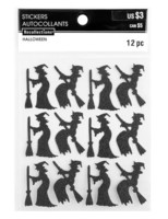 Recollections Halloween Glitter Stickers: Witch