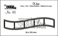 Crealies X-tra: Curved Filmstrip Medium - stanssi