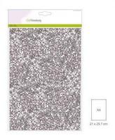 Glitter Paper A4: Silver- glitterpaperipakkaus