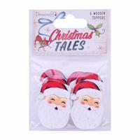 Christmas Tales Wooden Toppers Santa - koristepakkaus