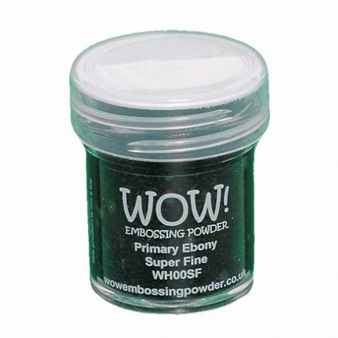 Wow Embossing Powder: Primary Ebony Super Fine 15ml