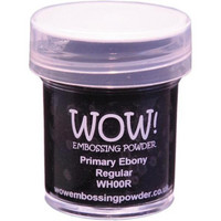Wow Embossing Powder: Primary Ebony Regular 15ml