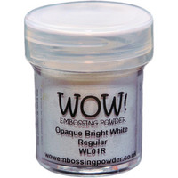 Wow Embossing Powder: Opaque Bright White Regular 15ml