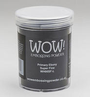 Wow Embossing Powder: Primary Ebony Super Fine 160ml  (Jättipurkki)