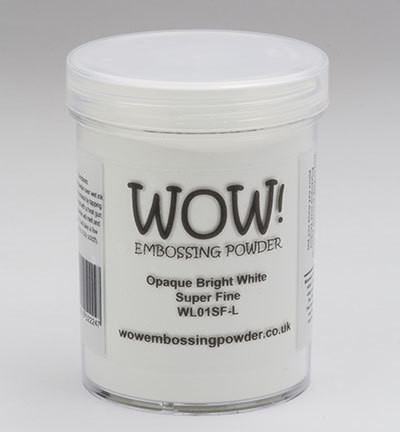 Wow Embossing Powder: Opaque Bright White Super Fine 160ml  (Jättipurkki)