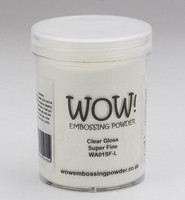 Wow Embossing Powder: Clear Gloss Super Fine 160ml  (Jättipurkki)