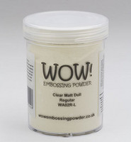Wow Embossing Powder: Clear Matt Dull 160ml  (Jättipurkki)