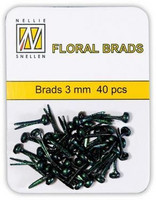 Mini Black Glitter Brads