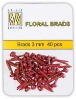 Mini Red Glitter Brads