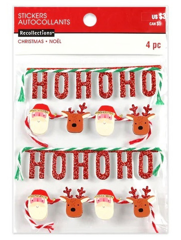 Christmas 3D Stickers: Christmas Banners