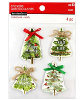 Christmas 3D Stickers: Chipboard Christmas Trees