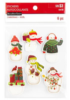 Christmas 3D Stickers: Snowmen