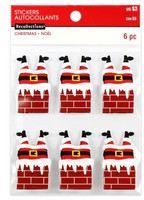 Christmas 3D Stickers: Santa Chimneys