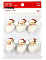 Christmas 3D Stickers: Santa Heads