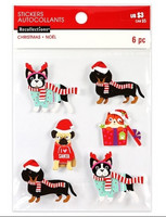 Christmas 3D Stickers: Christmas Pets