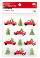 Christmas 3D Stickers: Christmas Trees & Trucks