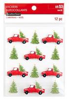 Christmas 3D Stickers: Christmas Trees & Trucks